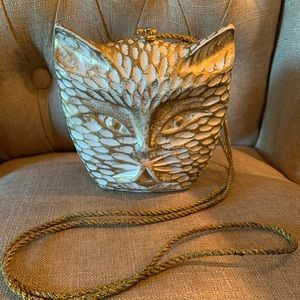 Timmy woods carved cat purse